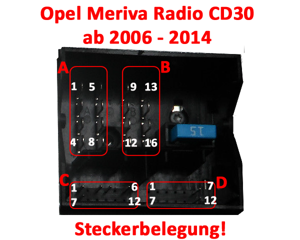 Opel Meriva Radio Steckerbelegung CD30 – Autoradio-Adapter-News ...