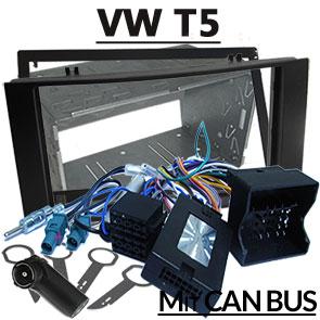 VW-T5-Fremdradio-Einbauset-für-Delta-Radios-mit-Doppel-DIN-und-Adapter-für-Lenkradfernbedienung