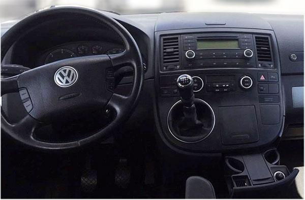 Radio Einbauset Auto 1 DIN Blende Adapter VW T5 nicht Multivan 2003-2015