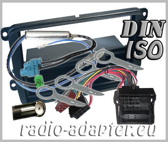 vw golf plus radioblende radioadapter din iso autoradio. Black Bedroom Furniture Sets. Home Design Ideas