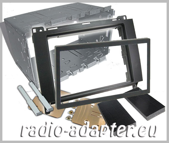 mercedes a klasse w169 doppel din radioblende autoradio. Black Bedroom Furniture Sets. Home Design Ideas