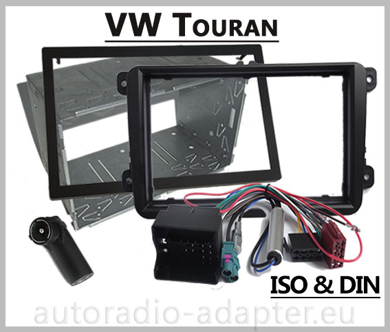 vw touran doppel din autoradio einbausatz radioblende. Black Bedroom Furniture Sets. Home Design Ideas