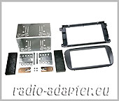 Ford S-Max, ab 2007 Doppel DIN, Radioblende schwarz ovale Form