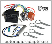VW Sharan ab 2005 Autoradio Einbau,  Radioadapter, Antennenadapter