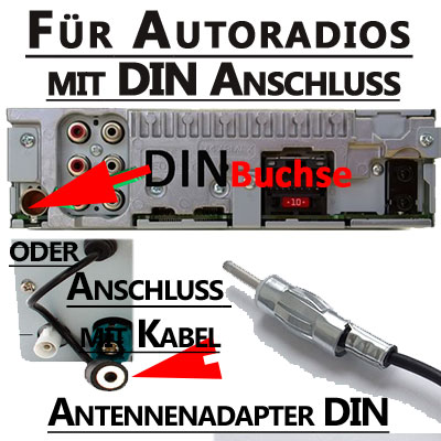 Autoradio-Antennenadapter-DIN-Anschluss