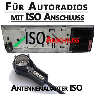 Autoradio-Antennenadapter-ISO-Anschluss