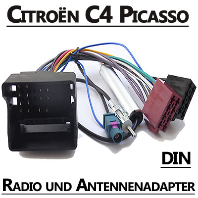 citroen c4 picasso autoradio anschlusskabel din antennenadapter. Black Bedroom Furniture Sets. Home Design Ideas