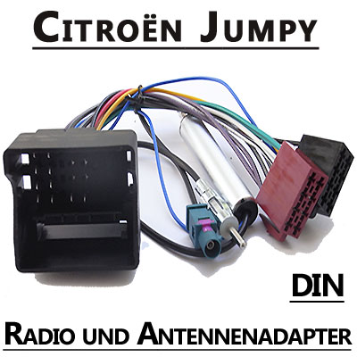 citroen jumpy autoradio anschlusskabel din antennenadapter. Black Bedroom Furniture Sets. Home Design Ideas