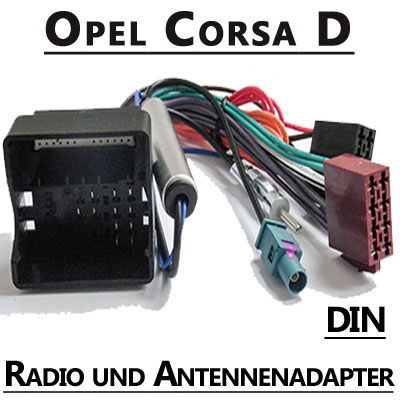 antennenadapter f r opel corsa d autoradio adapter. Black Bedroom Furniture Sets. Home Design Ideas