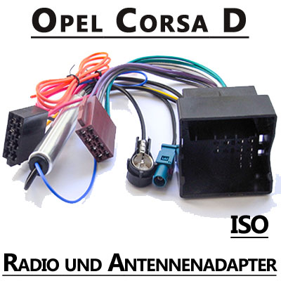 opel corsa d radio adapterkabel iso antennenadapter. Black Bedroom Furniture Sets. Home Design Ideas
