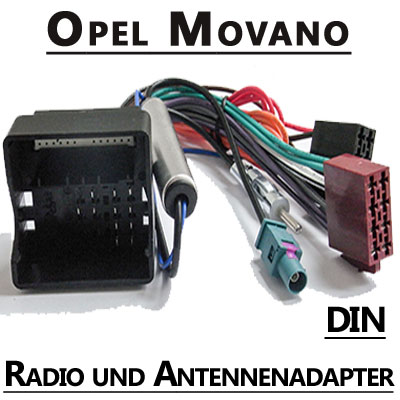 Opel-Movano-Autoradio-Anschlusskabel