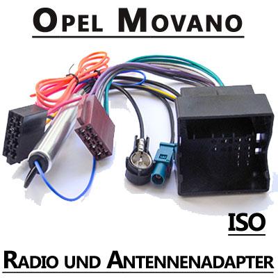 Opel-Movano-Radio-Adapterkabel-ISO-Antennenadapter
