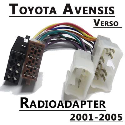 Radioadapter-für-Toyota-Avensis-Verso