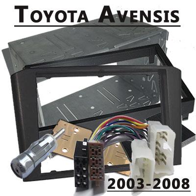 Toyota-Avensis-Radioeinbauset-Doppel-DIN-2003-2008