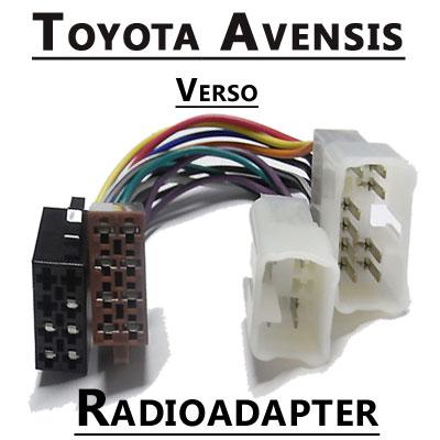 Toyota-Avensis-Verso-Autoradio-Anschlusskabel