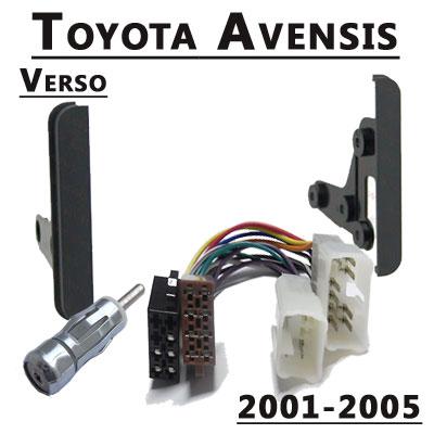 Toyota-Avensis-Verso-Radio-Einbauset-Doppel-DIN-2001-2005