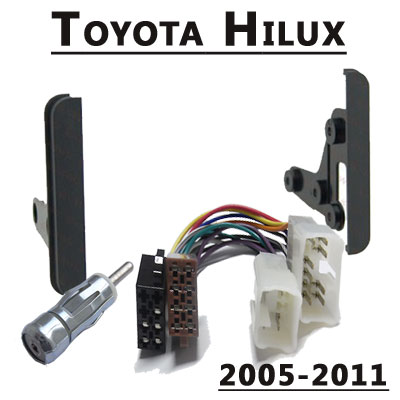 Toyota-Hilux-Radio-Einbauset-Doppel-DIN-2005-2011