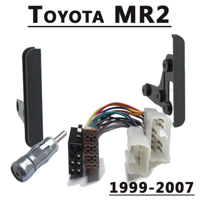 Toyota-MR2-Radioeinbauset-Doppel-DIN-1999-2007