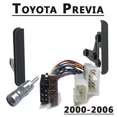 Toyota-Previa-Radioeinbauset-Doppel-DIN-2000-2006