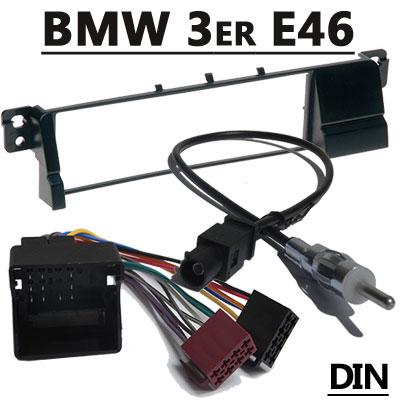 BMW-3er-E46-Autoradio-Einbauset-mit-Antennenadapter-DIN