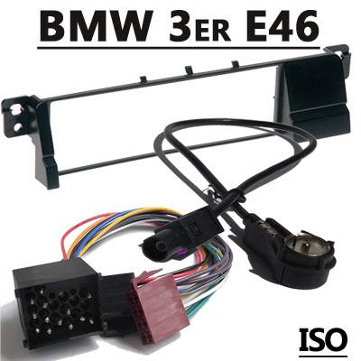 bmw 3er e46 autoradio einbauset mit antennenadapter iso 17pin BMW 3er E46 Autoradio Einbauset mit Antennenadapter ISO 17PIN BMW 3er E46 Autoradio Einbauset mit Antennenadapter ISO 17PIN