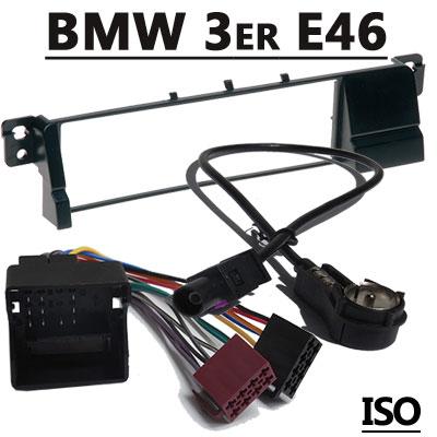 BMW-3er-E46-Radioeinbauset-mit-Antennenadapter-ISO