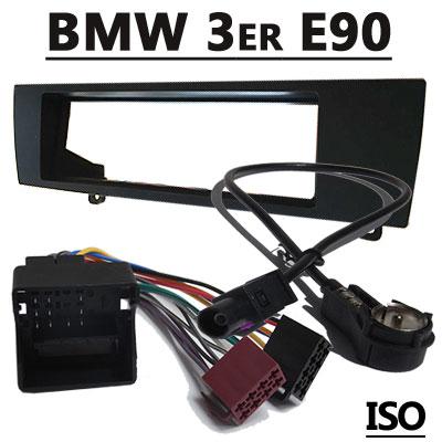 BMW 3er E90 Radioeinbauset mit Antennenadapter ISO BMW 3er E90 Radioeinbauset mit Antennenadapter ISO BMW 3er E90 Radioeinbauset mit Antennenadapter ISO