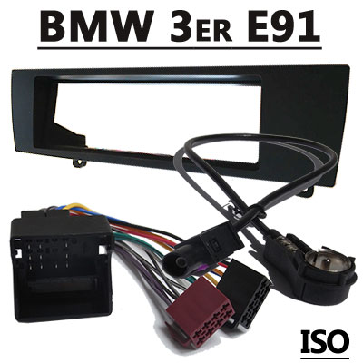 BMW 3er E91 Touring Radioeinbauset mit Antennenadapter ISO BMW 3er E91 Touring Radioeinbauset mit Antennenadapter ISO BMW 3er E91 Touring Radioeinbauset mit Antennenadapter ISO