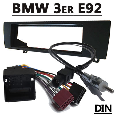 BMW-3er-E92-Coupe-Radioeinbauset-mit-Antennenadapter-DIN