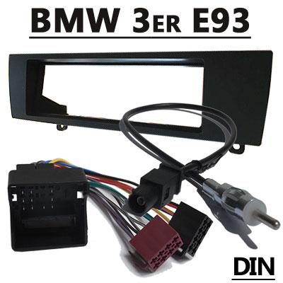 BMW-3er-E93-Cabrio-Radioeinbauset-mit-Antennenadapter-DIN