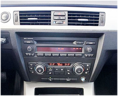 BMW-Business-3er-Radio-2010 BMW 3er E92 Coupe Radioeinbauset mit Antennenadapter ISO BMW 3er E92 Coupe Radioeinbauset mit Antennenadapter ISO BMW Business 3er Radio 2010