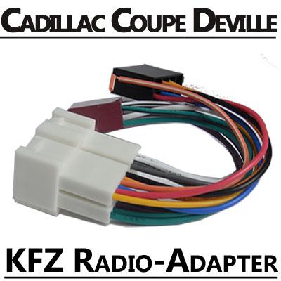 Cadillac-Coupe-DeVille-Autoradio-Anschlusskabel