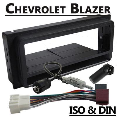 Chevrolet-Blazer-Radioeinbauset-1-DIN-mit-Fach