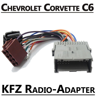 chevrolet corvette c6 radio adapter iso stecker. Black Bedroom Furniture Sets. Home Design Ideas