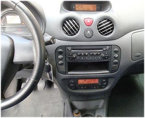citroen c2 lenkradfernbedienung mit 2 din autoradio einbauset Citroen C2 Lenkradfernbedienung mit 2 DIN Autoradio Einbauset Citroen C2 Radio 2006