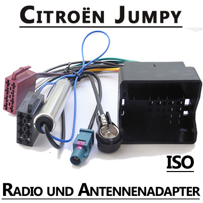 Citroen-Jumpy-Radio-Adapterkabel-ISO-Antennenadapter