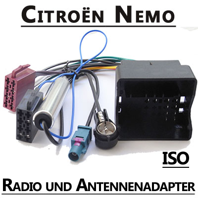Citroen Nemo Radio Adapterkabel ISO Antennenadapter Citroen Nemo Radio Adapterkabel ISO Antennenadapter Citroen Nemo Radio Adapterkabel ISO Antennenadapter