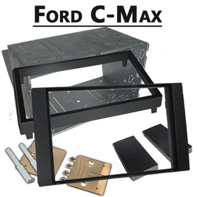 Ford-C-Max-Doppel-DIN-Radio-Einbaurahmen