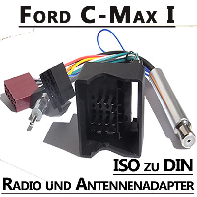 ford c max radio anschlusskabel din antennenadapter. Black Bedroom Furniture Sets. Home Design Ideas