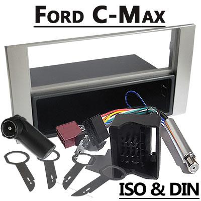 Ford C-Max Radioeinbauset 1 DIN mit Fach Silber Ford C-Max Radioeinbauset 1 DIN mit Fach Silber Ford C Max Radioeinbauset 1 DIN mit Fach Silber