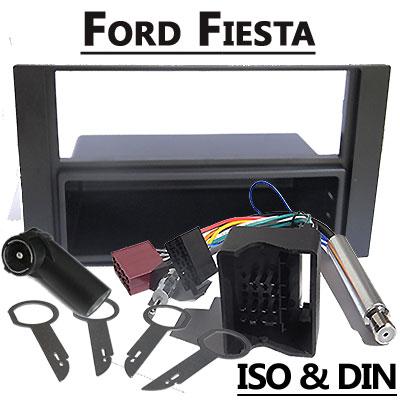 Ford-Fiesta-Radioblende-und-Adapter-anthrazit