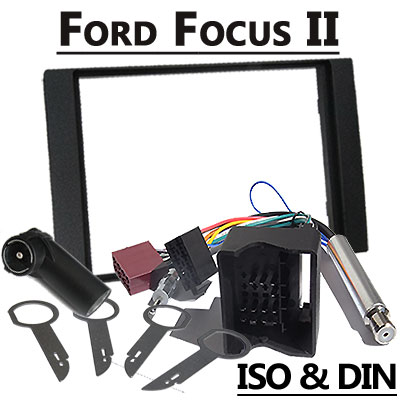 Ford-Focus-II-2-DIN-Radio-Einbauset