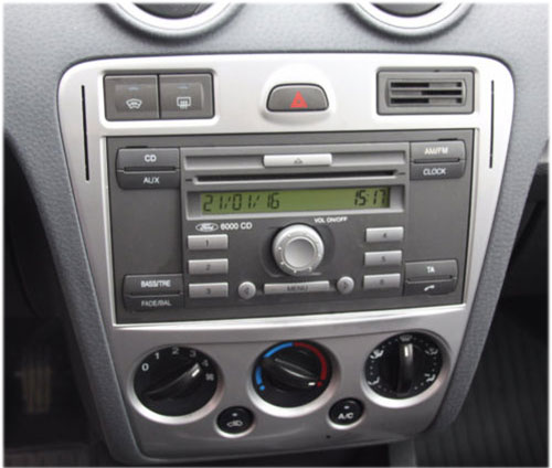 Ford-Fusion-Radio-2008 Ford Fusion Radioblende und Adapter anthrazit Ford Fusion Radioblende und Adapter anthrazit Ford Fusion Radio 2008