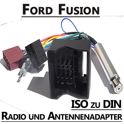 Ford-Fusion-Radio-Anschlusskabel-DIN-Antennenadapter