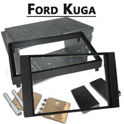 Ford-Kuga-Doppel-DIN-Radio-Einbaurahmen