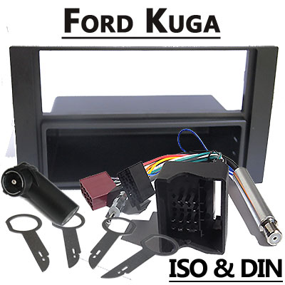 Ford-Kuga-Radioblende-und-Adapter-anthrazit