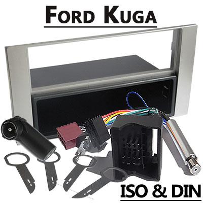 Ford Kuga Radioeinbauset 1 DIN mit Fach Silber Ford Kuga Radioeinbauset 1 DIN mit Fach Silber Ford Kuga Radioeinbauset 1 DIN mit Fach Silber