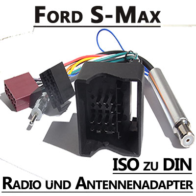 Ford-S-Max-Radio-Anschlusskabel-DIN-Antennenadapter