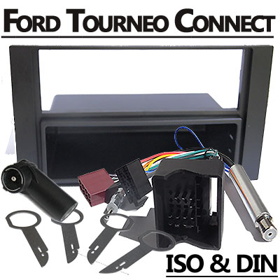 Ford-Tourneo-Connect-Radioblende-und-Adapter-anthrazit