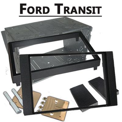 Ford-Transit-Doppel-DIN-Radio-Einbaurahmen